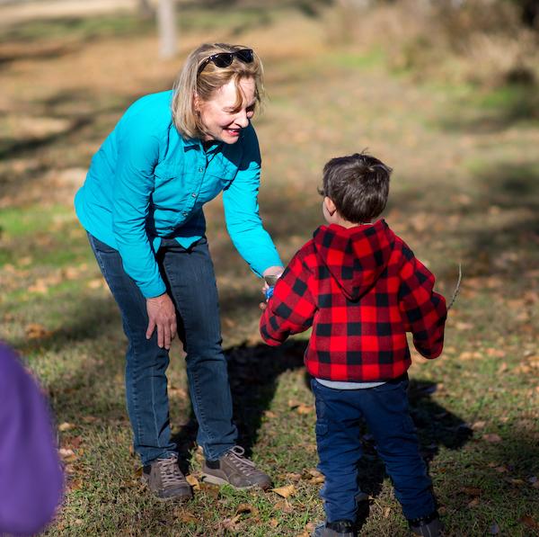 Melanie and Kid Forest Bath