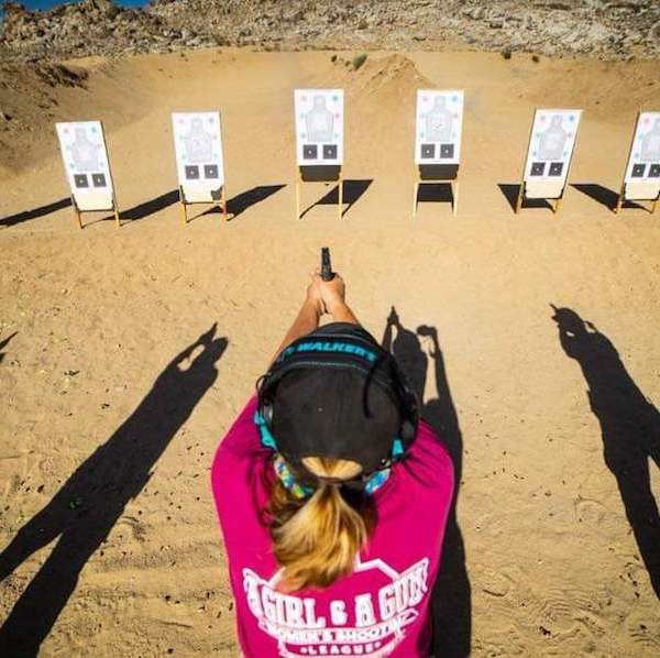 A Girl and A Gun Targets